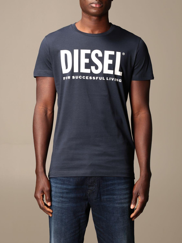 Camiseta Diesel: Camiseta hombre Diesel azul oscuro 1