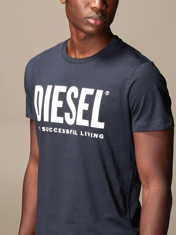Camiseta Diesel: Camiseta hombre Diesel azul oscuro 3
