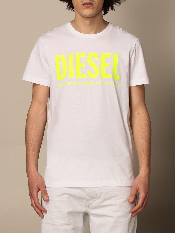 T-shirt Diesel: Diesel cotton t-shirt with logo white 1 1