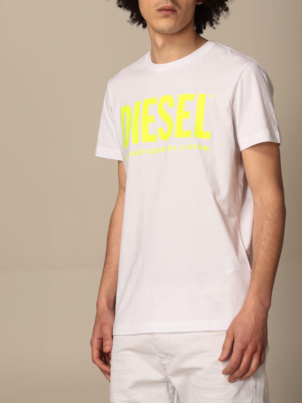 T-shirt Diesel: Diesel cotton t-shirt with logo white 1 3