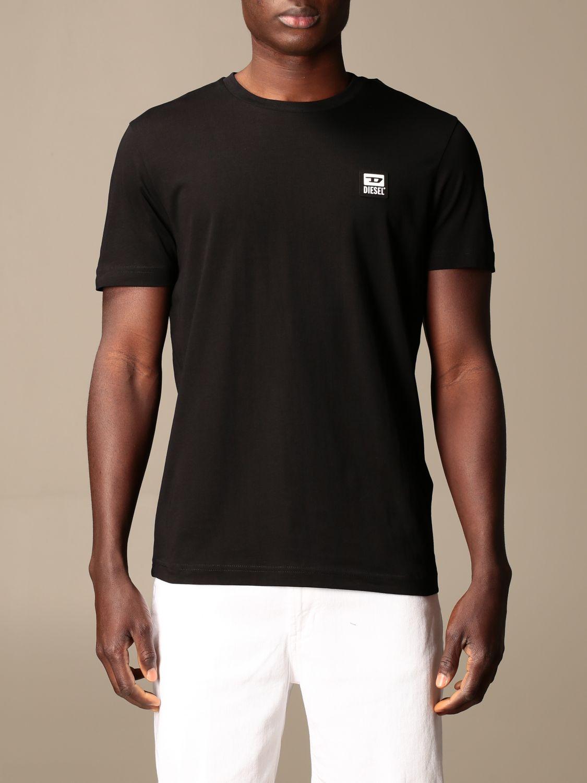 T-shirt Diesel: Diesel cotton t-shirt with logo black 1
