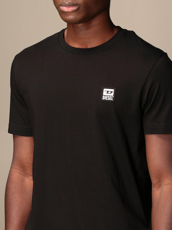 T-shirt Diesel: Diesel cotton t-shirt with logo black 4