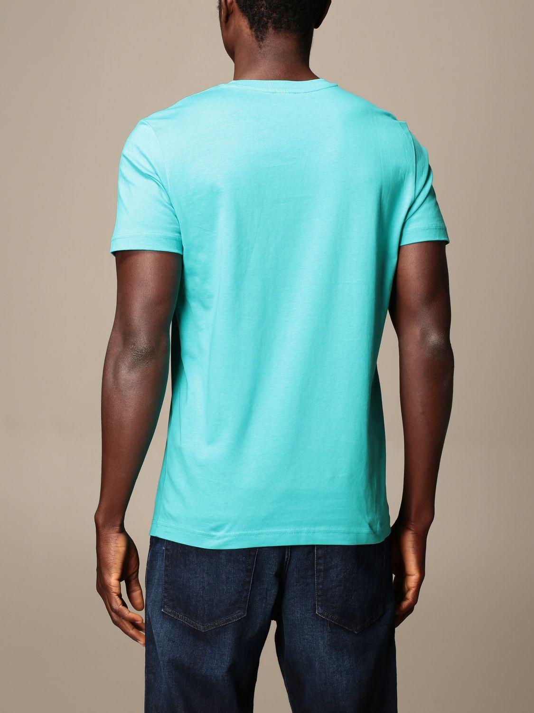 T-shirt Diesel: Diesel cotton t-shirt with logo gnawed blue 2
