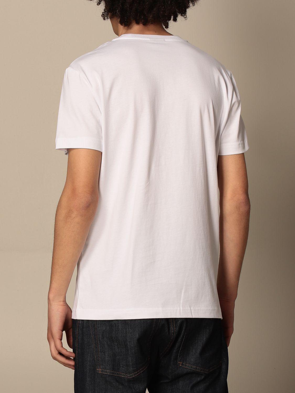 T-shirt Diesel: Diesel cotton t-shirt with logo print white 2