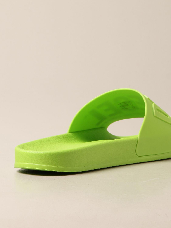 Sandali Diesel: Sandalo Slide Diesel in gomma lime 3