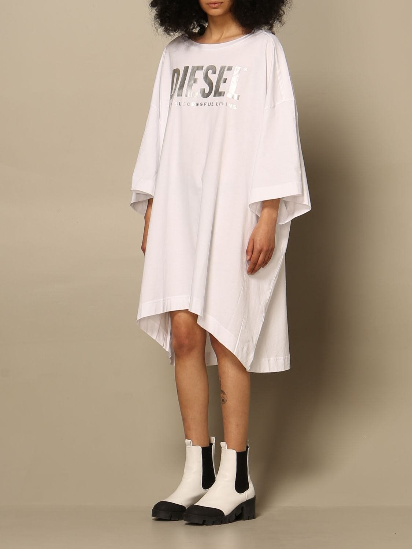 Kleid Diesel: Kleid damen Diesel weiß 3