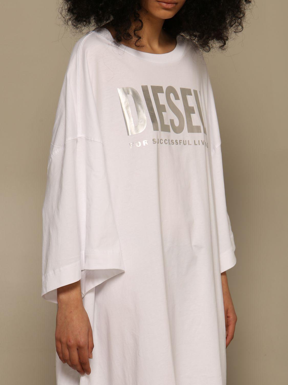 Kleid Diesel: Kleid damen Diesel weiß 4