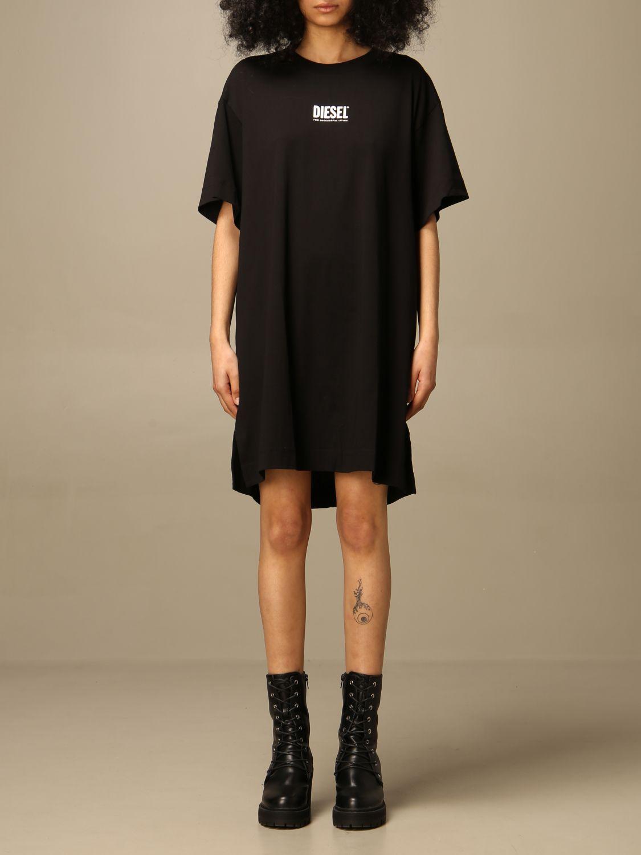 Kleid Diesel: Kleid damen Diesel schwarz 1