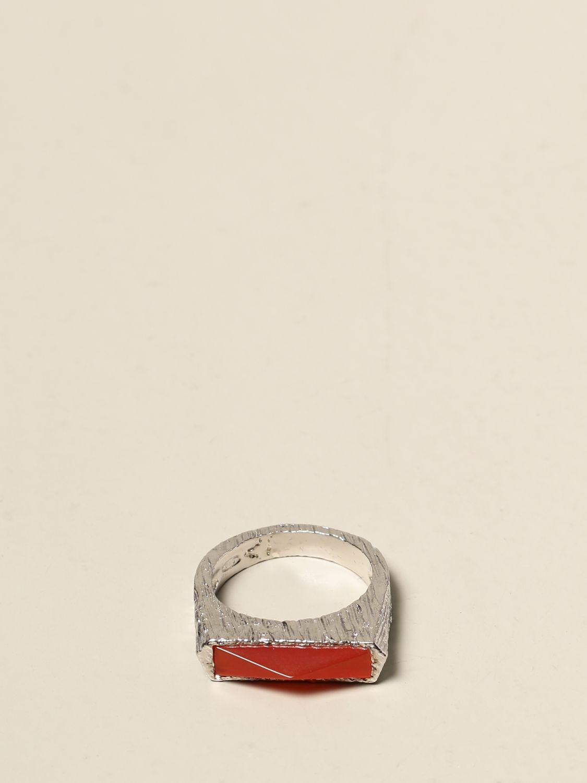 Gioielli Rockyourmind: Anello Square Rock Rockyourmind in argento argento 1