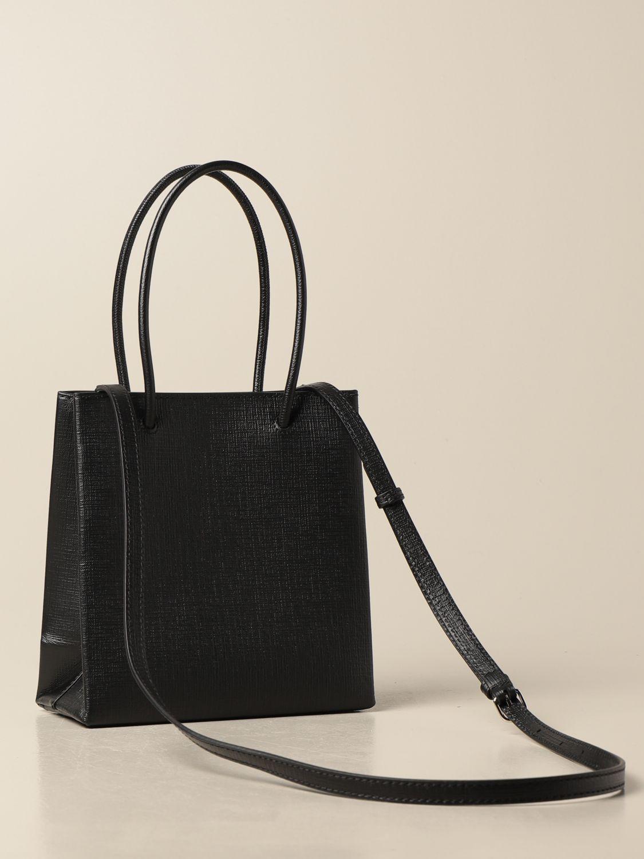Mini bag Balenciaga: Balenciaga xxs shopping tote bag in leather with logo black 3