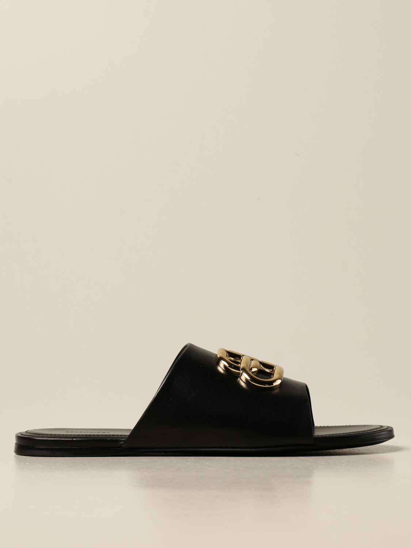 Босоножки без каблука Balenciaga: Обувь Женское Balenciaga черный 1