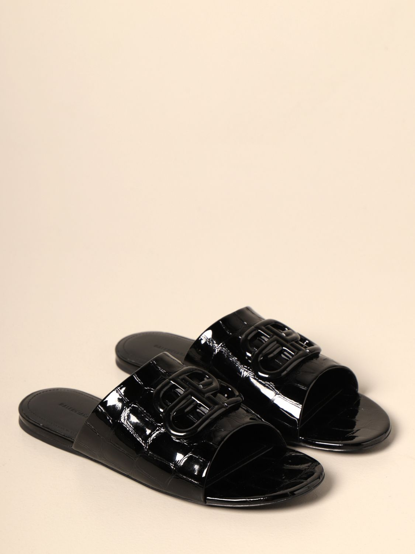 Босоножки без каблука Balenciaga: Обувь Женское Balenciaga черный 2