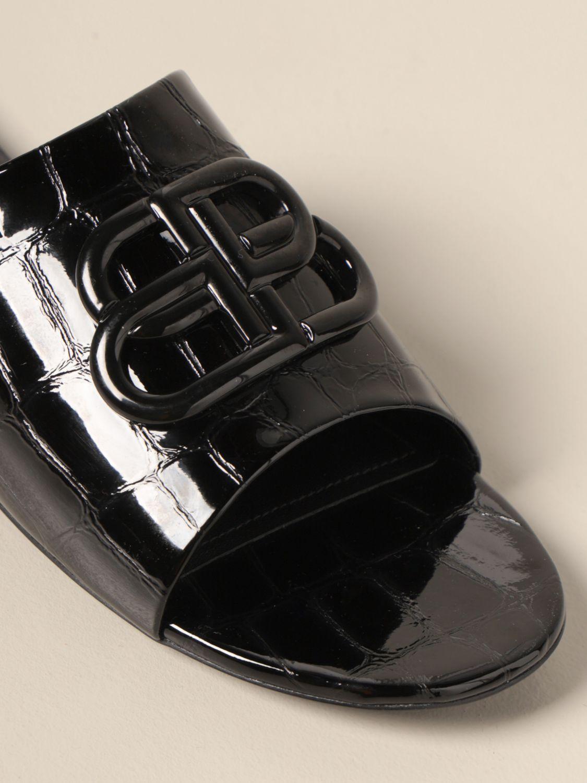 Босоножки без каблука Balenciaga: Обувь Женское Balenciaga черный 4