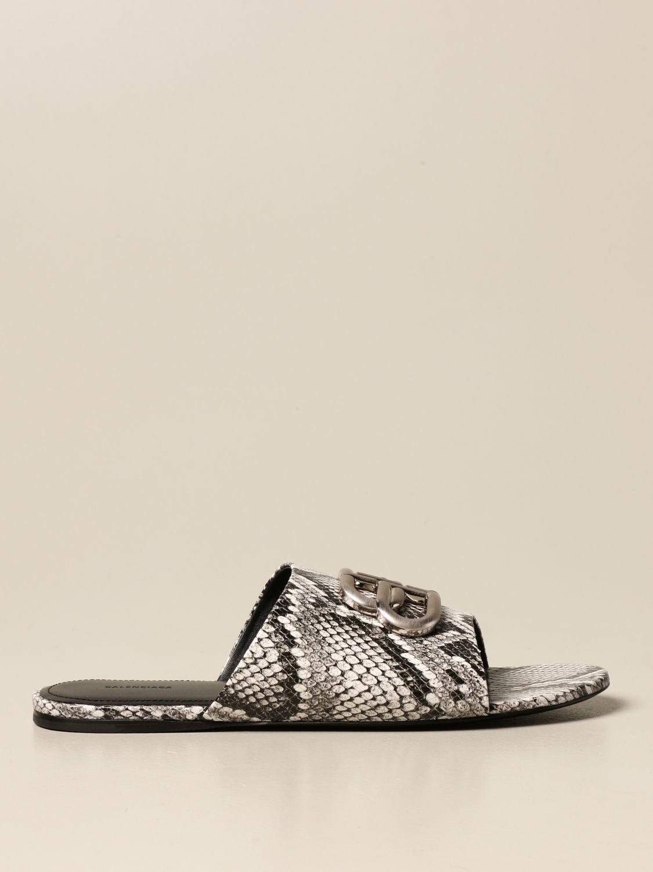 Босоножки без каблука Balenciaga: Обувь Женское Balenciaga бежевый 1