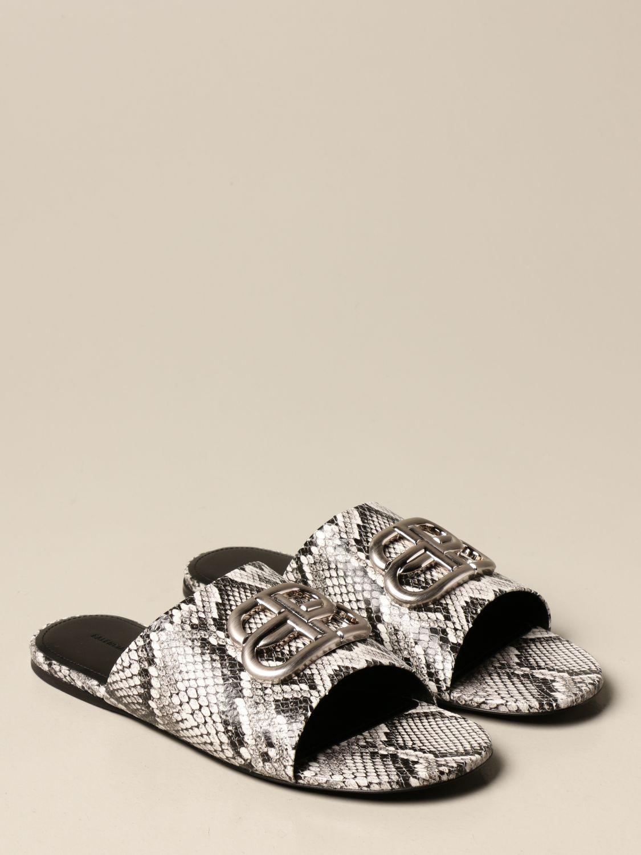 Босоножки без каблука Balenciaga: Обувь Женское Balenciaga бежевый 2