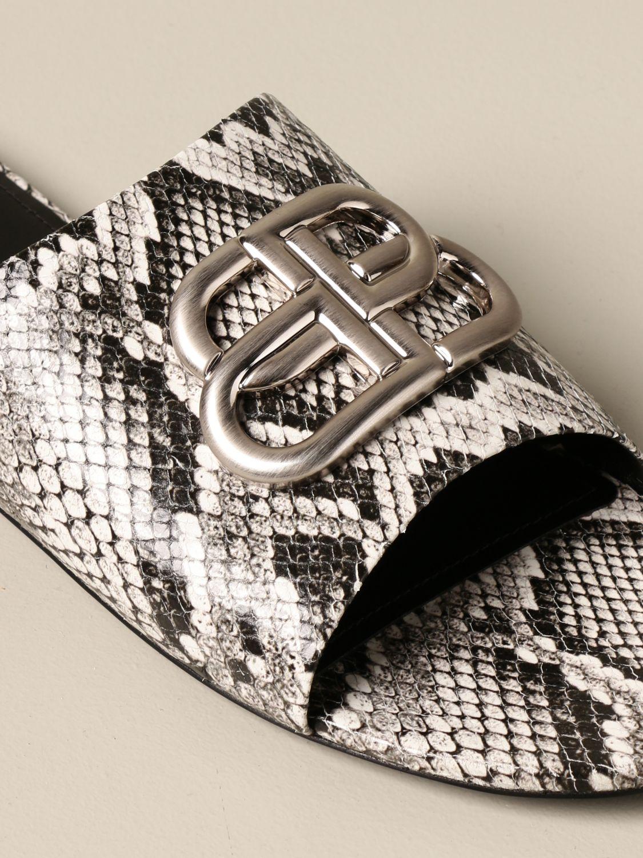 Босоножки без каблука Balenciaga: Обувь Женское Balenciaga бежевый 4