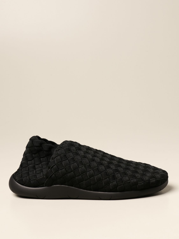 Trainers Bottega Veneta: Plat Bottega Veneta slip on sneakers in woven fabric black 1