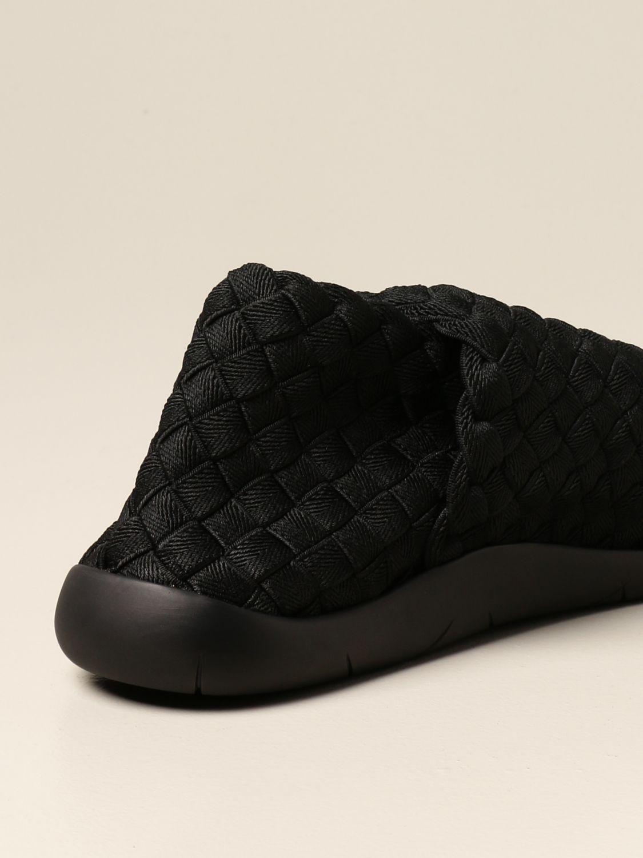 Trainers Bottega Veneta: Plat Bottega Veneta slip on sneakers in woven fabric black 3