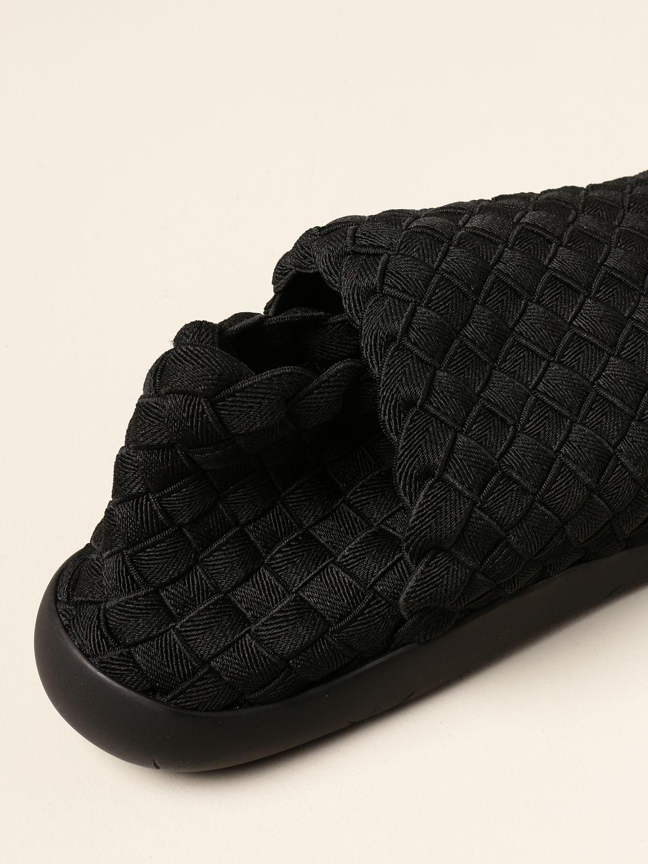 Trainers Bottega Veneta: Plat Bottega Veneta slip on sneakers in woven fabric black 4