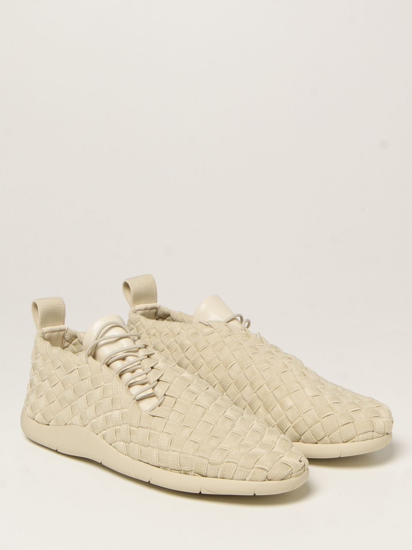 Sneakers Bottega Veneta: Sneakers Plat Bottega Veneta in tela intrecciata e pelle bianco 2