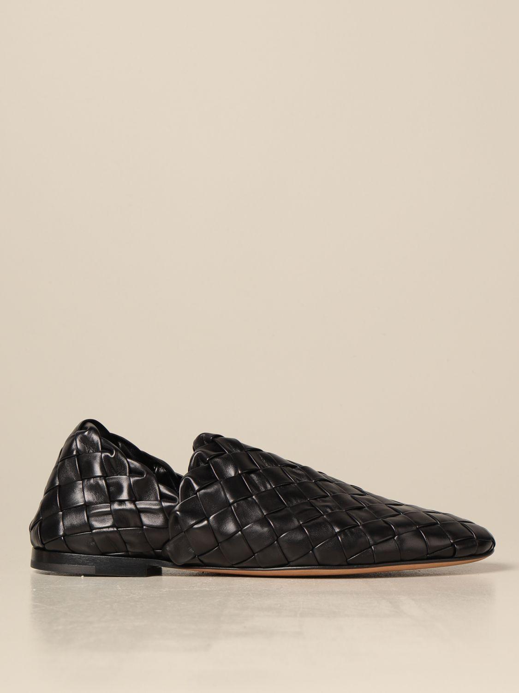 Shoes Bottega Veneta: Bottega Veneta slipper in woven lamb nappa black 1