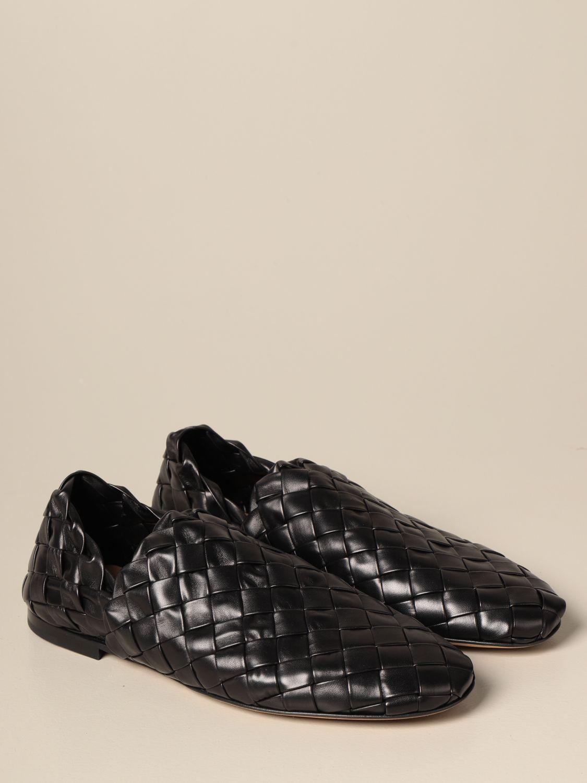 Shoes Bottega Veneta: Bottega Veneta slipper in woven lamb nappa black 2
