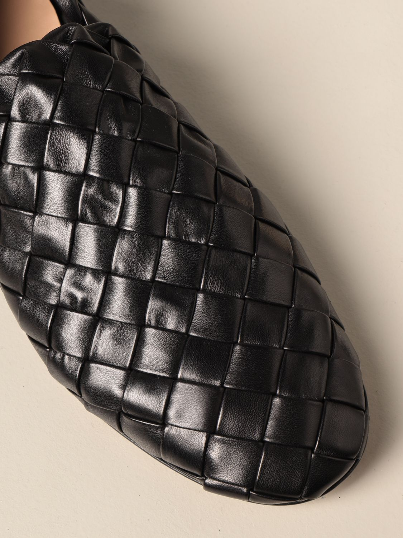 Shoes Bottega Veneta: Bottega Veneta slipper in woven lamb nappa black 4