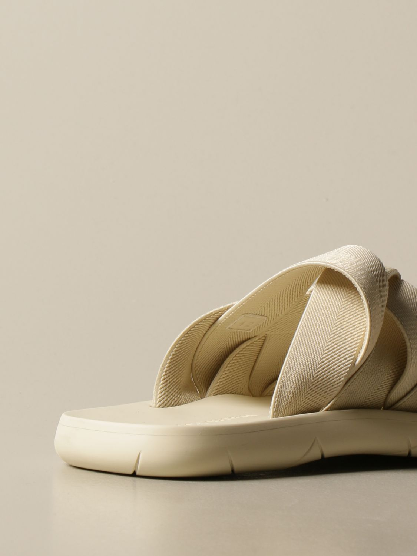 Sandali Bottega Veneta: Sandalo Bottega Veneta in tela e gomma stampata bianco 3