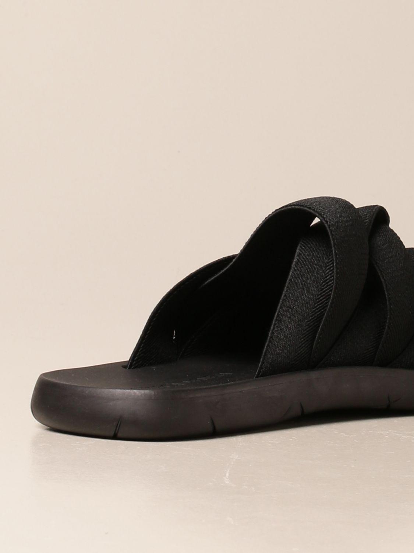 Sandals Bottega Veneta: Bottega Veneta sandal in canvas and printed rubber black 3