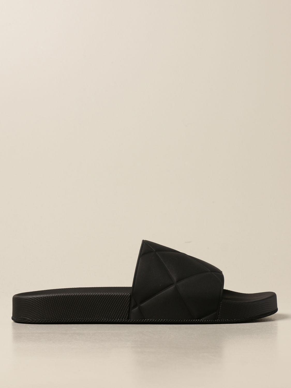 Sandals Bottega Veneta: Bottega Veneta BV Slider rubber sandal black 1