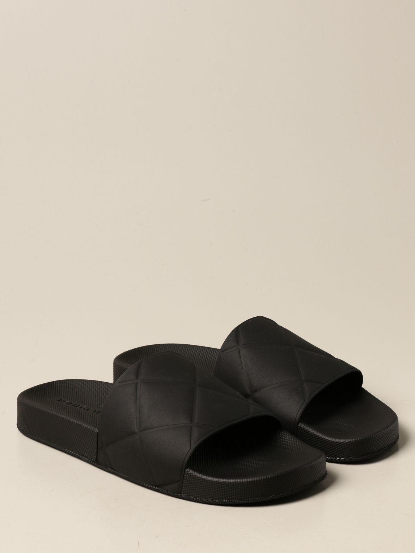 Sandals Bottega Veneta: Bottega Veneta BV Slider rubber sandal black 2