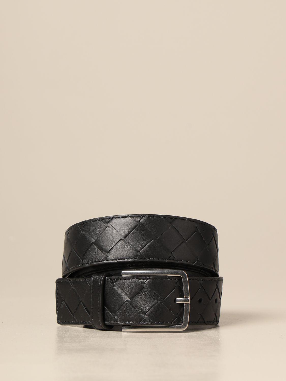 Cintura Bottega Veneta: Cintura Bottega Veneta in pelle intrecciata 1.5 nero 1