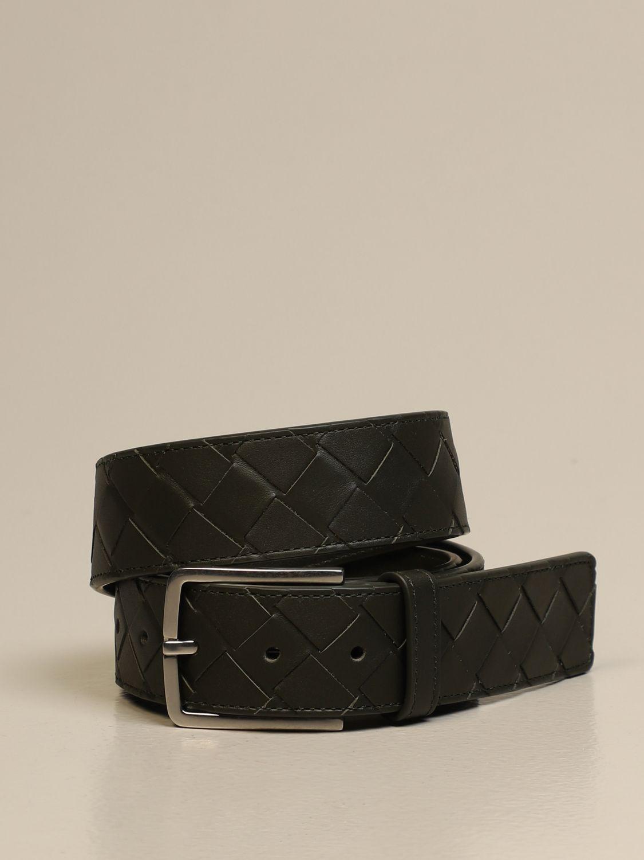 Belt Bottega Veneta: Bottega Veneta belt in woven leather 1.5 military 1