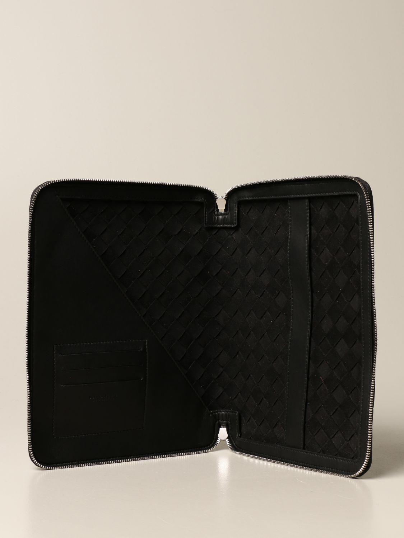 Portadocumenti Bottega Veneta: Pochette Bottega Veneta in pelle intrecciata nero 5