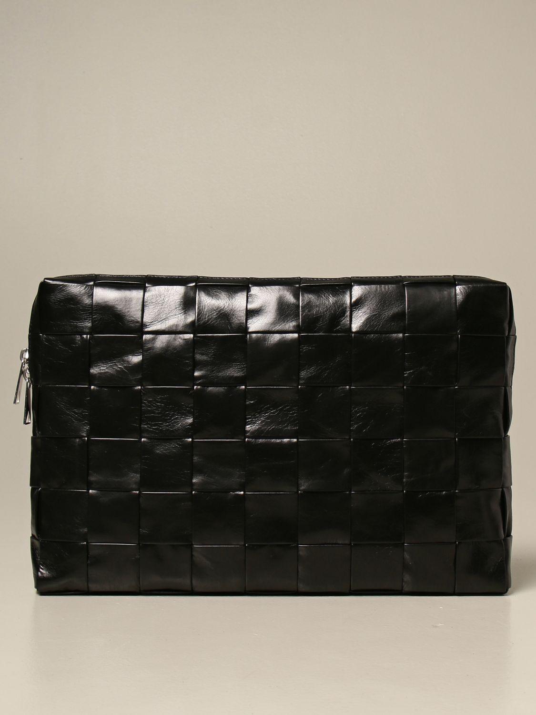 Briefcase Bottega Veneta: Bottega Veneta clutch bag in 4.0 woven leather black 1