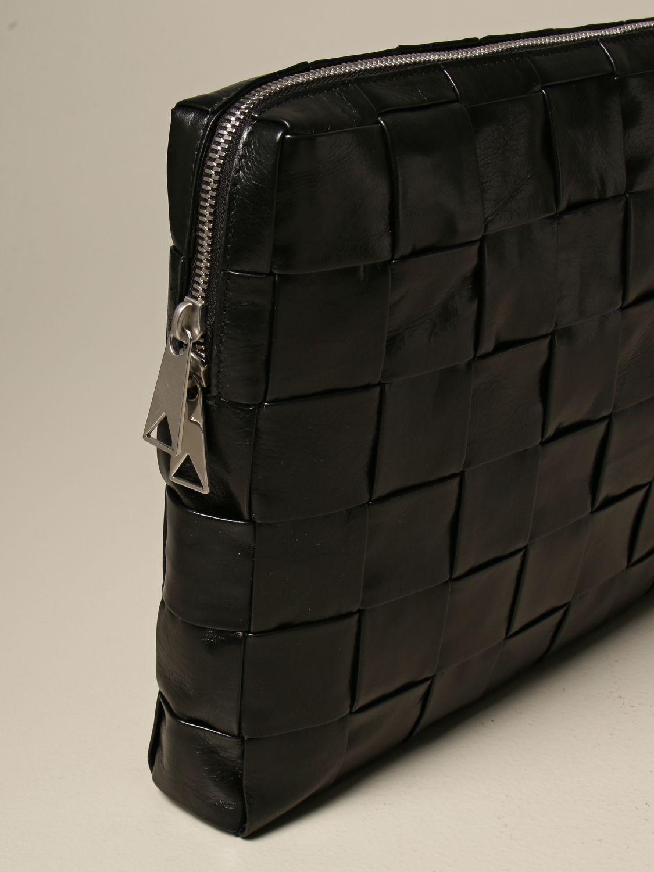 Briefcase Bottega Veneta: Bottega Veneta clutch bag in 4.0 woven leather black 4