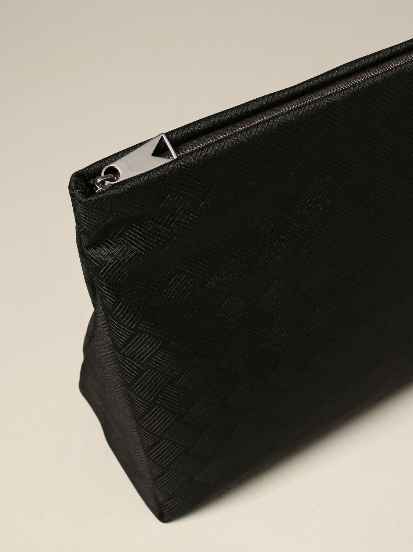 Portadocumenti Bottega Veneta: Beauty case Bottega Veneta in nylon nero 3