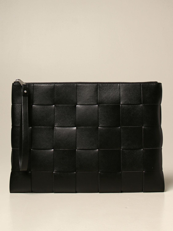 Briefcase Bottega Veneta: Bottega Veneta clutch bag in woven leather black 1