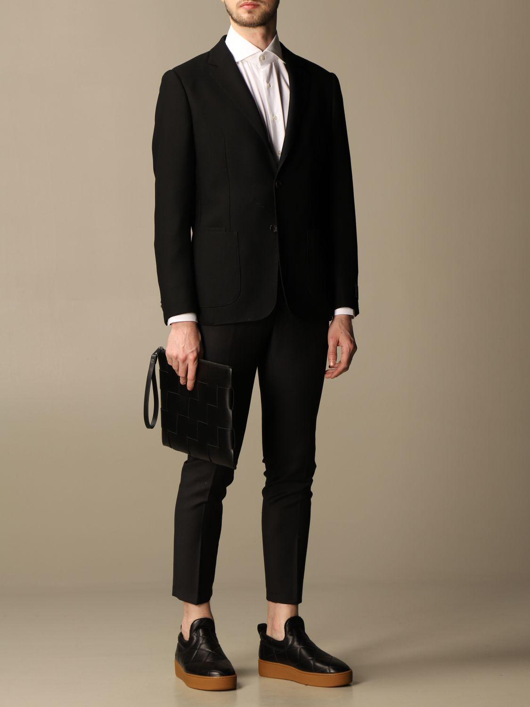 Briefcase Bottega Veneta: Bottega Veneta clutch bag in woven leather black 2