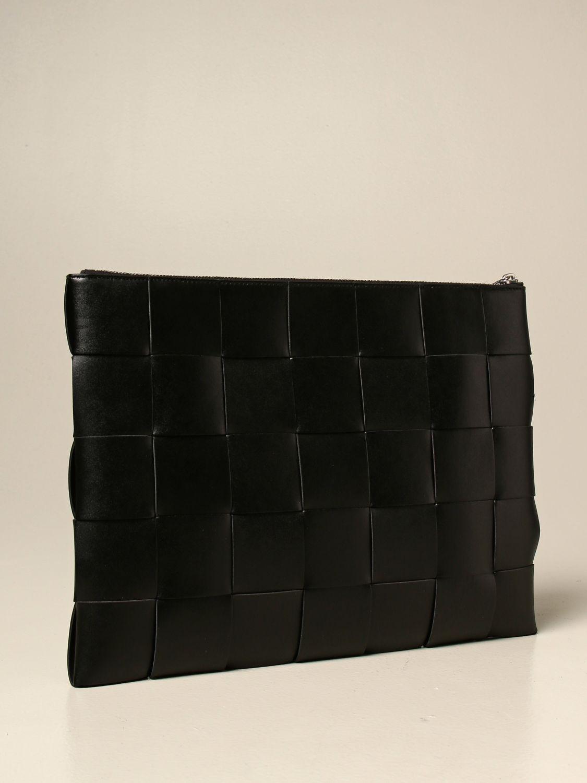 Briefcase Bottega Veneta: Bottega Veneta clutch bag in woven leather black 3