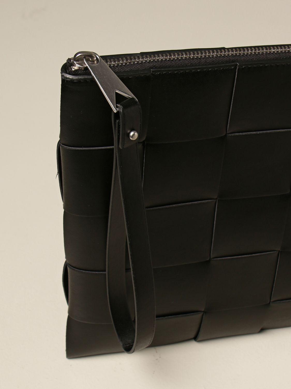 Briefcase Bottega Veneta: Bottega Veneta clutch bag in woven leather black 4