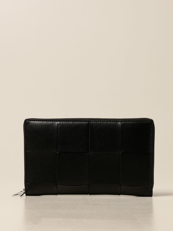Wallet Bottega Veneta: Bottega Veneta wallet in woven leather 4.5 black 1