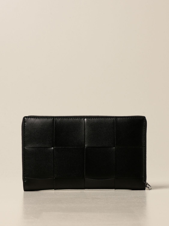 Wallet Bottega Veneta: Bottega Veneta wallet in woven leather 4.5 black 3