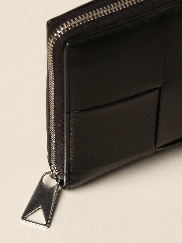 Wallet Bottega Veneta: Bottega Veneta wallet in woven leather 4.5 black 4