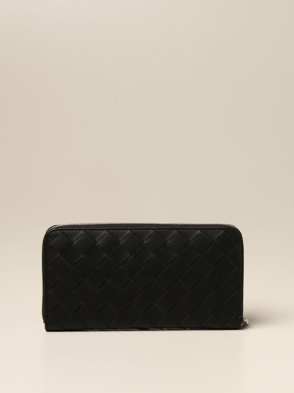 Wallet Bottega Veneta: Bottega Veneta wallet in woven leather 1.5 black 3