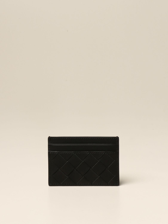 Wallet Bottega Veneta: Bottega Veneta credit card holder in woven leather 1.5 black 2