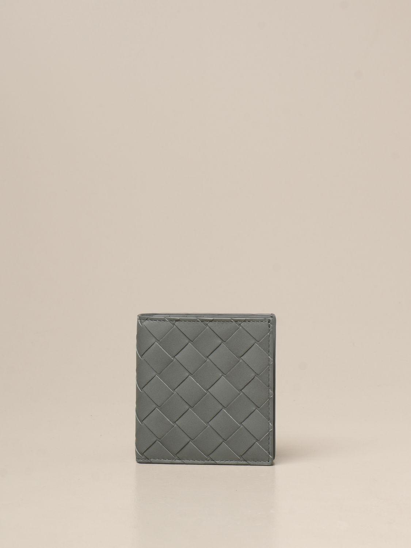 Wallet Bottega Veneta: Bottega Veneta Bi-fold wallet in woven leather green 1