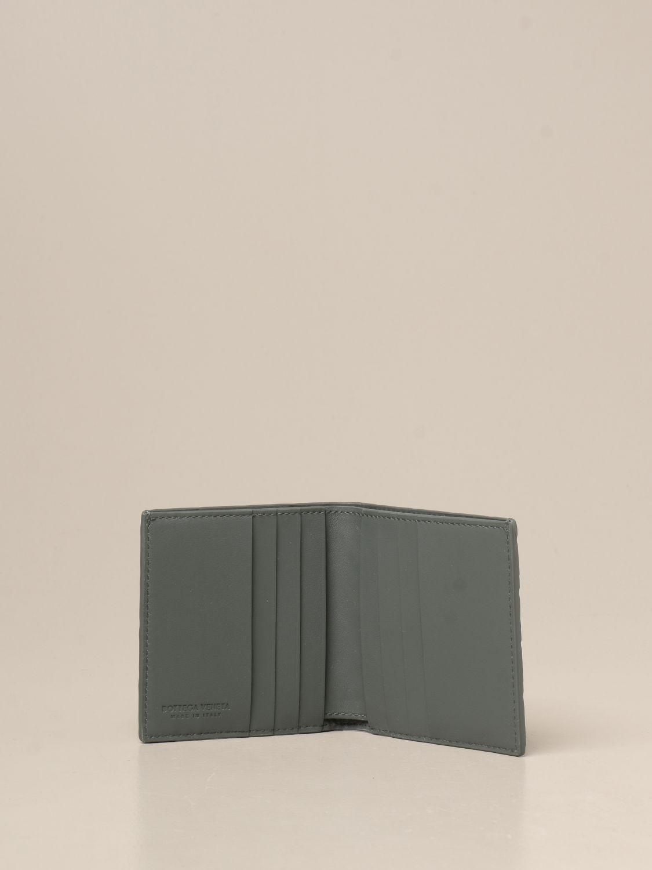Wallet Bottega Veneta: Bottega Veneta Bi-fold wallet in woven leather green 2