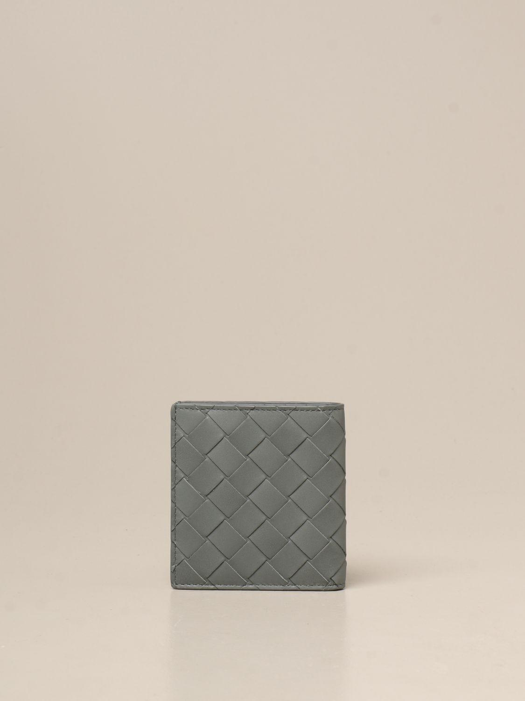 Wallet Bottega Veneta: Bottega Veneta Bi-fold wallet in woven leather green 3