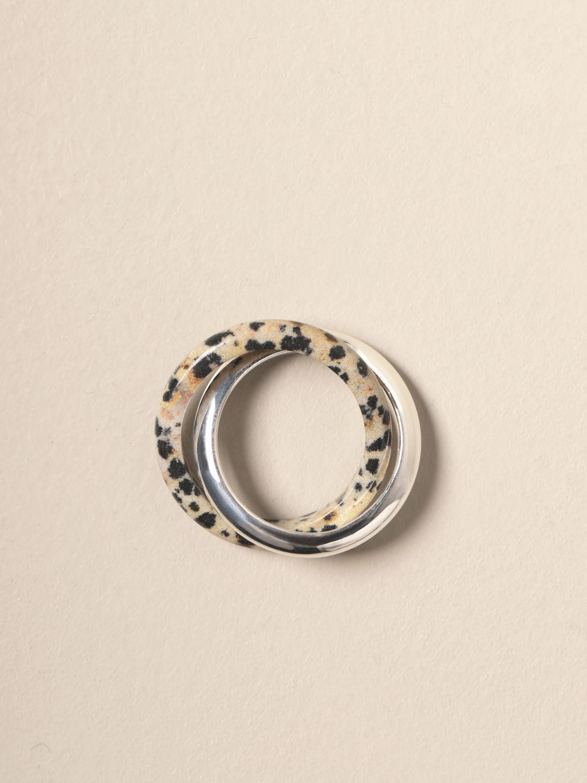 Gioielli Bottega Veneta: Anello Bottega Veneta con doppio dalmata argento 2